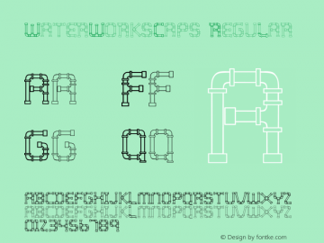 WaterWorksCaps Regular Altsys Fontographer 3.5  10/21/92 Font Sample