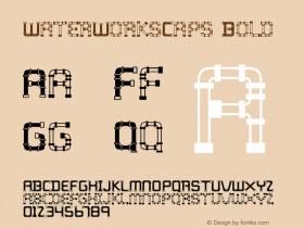WaterWorksCaps Bold Macromedia Fontographer 4.1.3 7/11/96 Font Sample