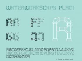 WaterWorksCaps Plain Macromedia Fontographer 4.1.3 7/11/96 Font Sample