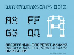 WaterWorksCaps Bold 001.000 Font Sample