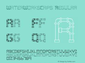 WaterWorksCaps Regular 001.000 Font Sample