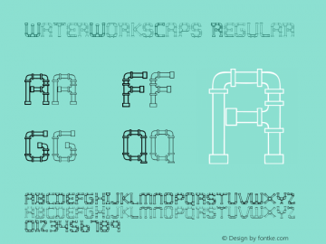 WaterWorksCaps Regular 001.000 Font Sample