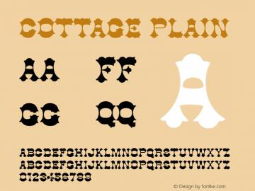 Cottage Plain Unknown Font Sample