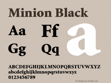 Minion Black Version 001.001 Font Sample