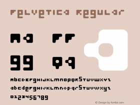 Felvetica Regular Macromedia Fontographer 4.1.5 03‐06‐05 Font Sample