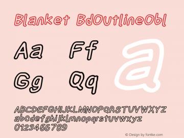 Blanket BdOutlineObl Version 0.9 Font Sample
