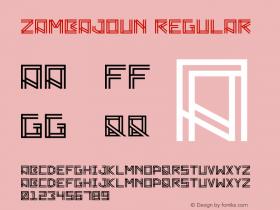 Zambajoun Regular Version 1.00 Font Sample