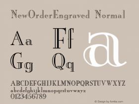 NewOrderEngraved Normal 1.0 Wed Nov 18 11:08:17 1992 Font Sample