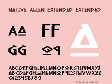 Native Alien Extended Extended 1 Font Sample