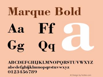 Marque Bold Version 001.000 Font Sample