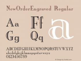 NewOrderEngraved Regular v1.0c Font Sample