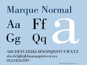 Marque Normal Version 001.000图片样张