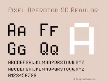 Pixel Operator SC Regular Version 1.4.0 (August 12, 2015)图片样张