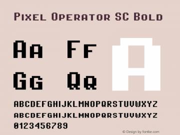 Pixel Operator SC Bold Version 1.4.0 (August 12, 2015)图片样张