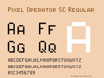Pixel Operator SC Regular Version 1.4.1 (September 5, 2015)图片样张