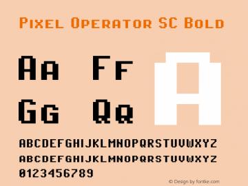 Pixel Operator SC Bold Version 1.4.1 (September 5, 2015)图片样张