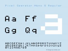 Pixel Operator Mono 8 Regular Version 1.4.0 (August 12, 2015)图片样张