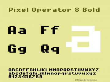 Pixel Operator 8 Bold Version 1.4.0 (August 12, 2015)图片样张