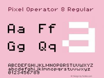 Pixel Operator 8 Regular Version 1.4.1 (September 5, 2015)图片样张