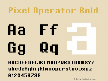 Pixel Operator Bold Version 1.4.0 (August 12, 2015)图片样张
