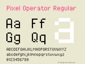 Pixel Operator Regular Version 1.4.0 (August 12, 2015)图片样张