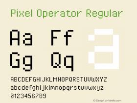 Pixel Operator Regular Version 1.4.1 (September 5, 2015)图片样张