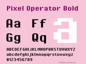 Pixel Operator Bold Version 1.4.1 (September 5, 2015)图片样张