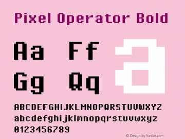 Pixel Operator Bold Version 1.4.1 (September 5, 2015)图片样张