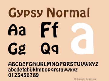 Gypsy Normal Version 001.000 Font Sample