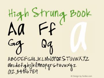 High Strung Book Version Macromedia Fontograp图片样张