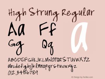 High Strung Regular Macromedia Fontographer 4.1 5/31/96图片样张