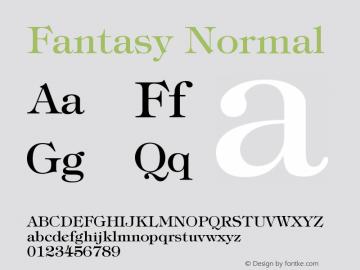 Fantasy Normal Version 001.000 Font Sample