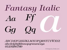 Fantasy Italic Version 001.000图片样张