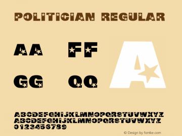 Politician Regular Macromedia Fontographer 4.1 5/30/96图片样张