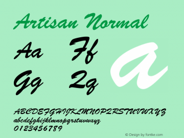 Artisan Normal Version 001.000 Font Sample