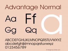 Advantage Normal Version 001.000 Font Sample