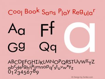 Cool Book Sans Play Regular 1.2 Font Sample