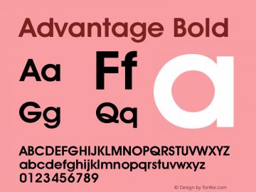 Advantage Bold Version 001.000 Font Sample