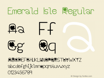 Emerald Isle Regular Unknown Font Sample