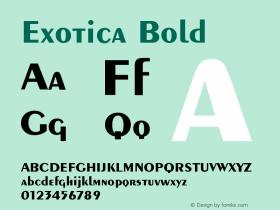 Exotica Bold Version 001.000 Font Sample