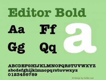 Editor Bold Version 001.000 Font Sample