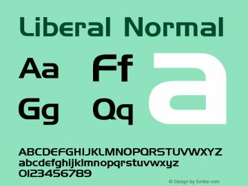 Liberal Normal Version 001.000 Font Sample