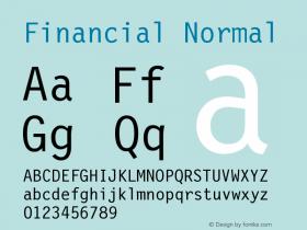 Financial Normal Version 001.000 Font Sample