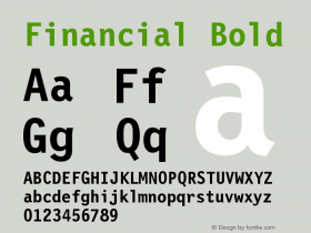 Financial Bold Version 001.000 Font Sample