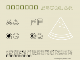 華康可愛英文篇 Regular Version 1.01 Font Sample
