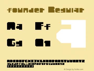 founder Regular Version 1.0 Font Sample