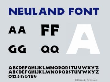 Neuland Font Version 001.000 Font Sample