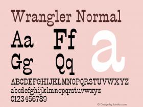 Wrangler Normal Version 001.000 Font Sample
