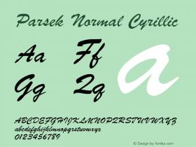 Parsek Normal Cyrillic 1.0 Thu Nov 25 21:19:28 1993 Font Sample