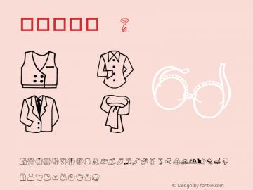華康服飾篇 Regular Version 1.01 Font Sample